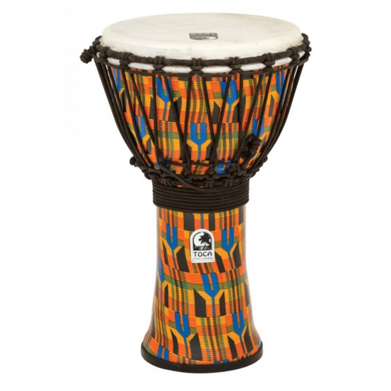 Toca Synergy Freestyle Djembe in Kente Cloth