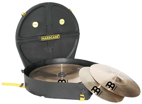 Hardcase 24in Kit Cymbal Case With Wheels (12 Cymbals)