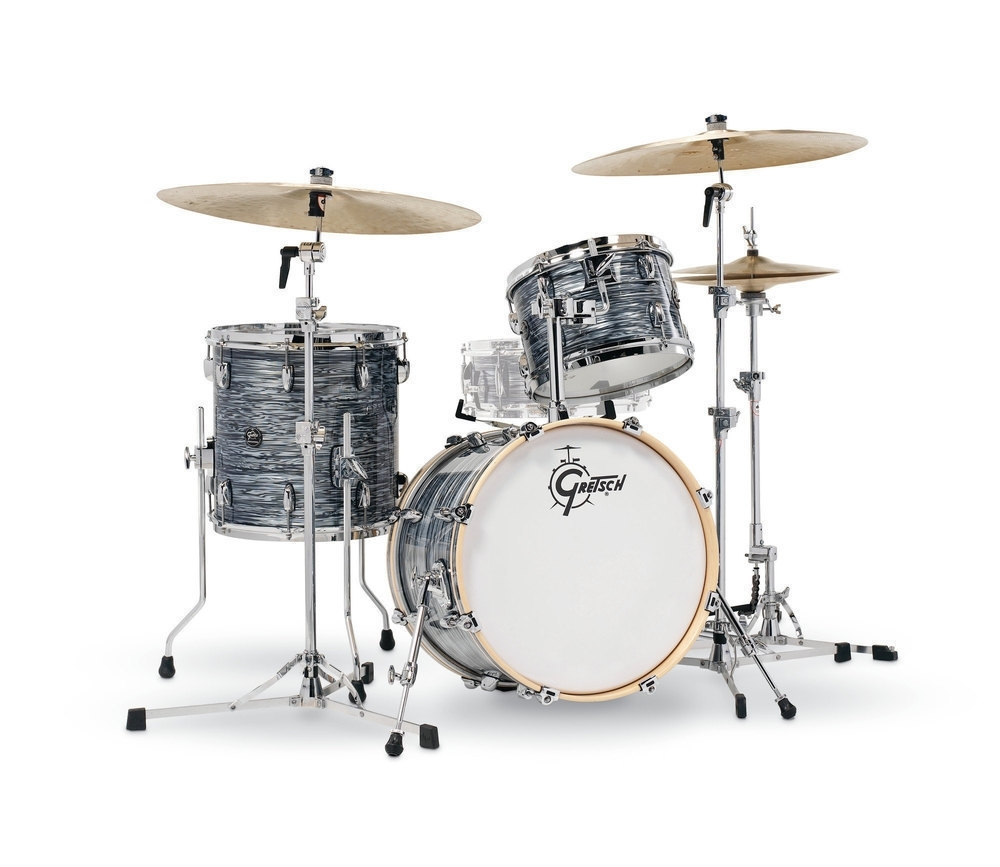 """Gretsch 18"""" Renown Maple 3pc Shell Pack in Silver Oyster Pearl"""
