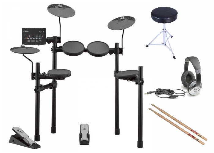 Yamaha DTX402 Electronic Drum Kit Bundle