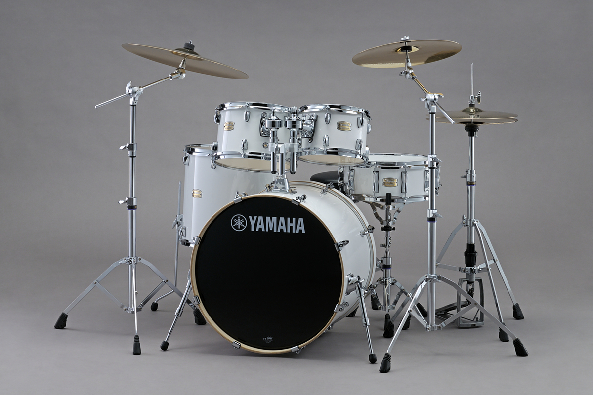 Yamaha Stage Custom Birch 20'' Fusion 5 Piece shell pack in Pure White