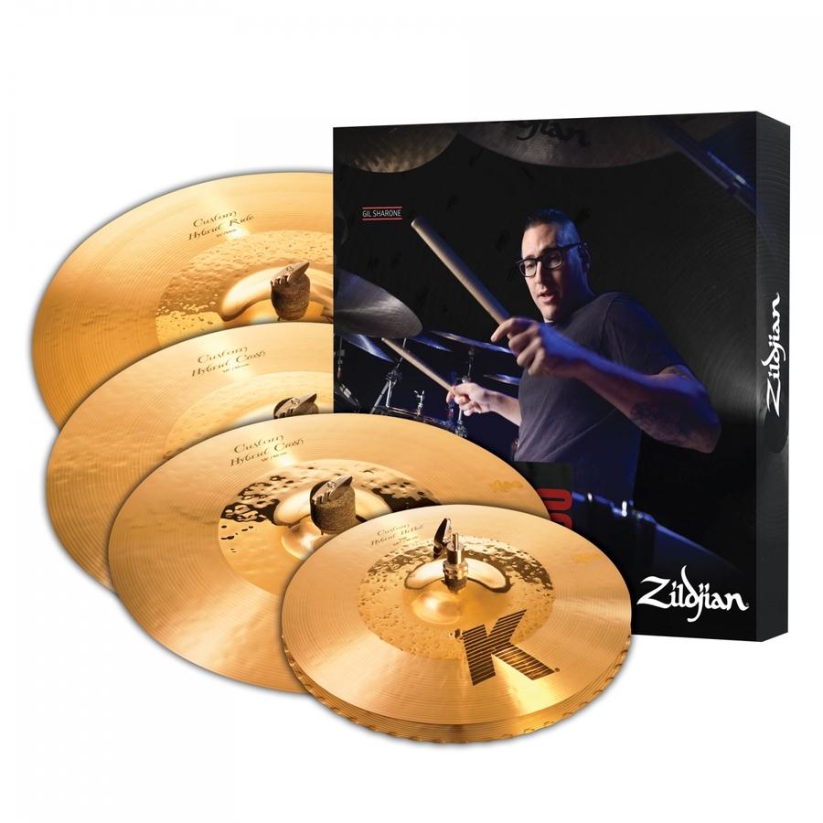 Zildjian K Custom Hybrid Cymbal Box Set Plus 18in Crash - K1250