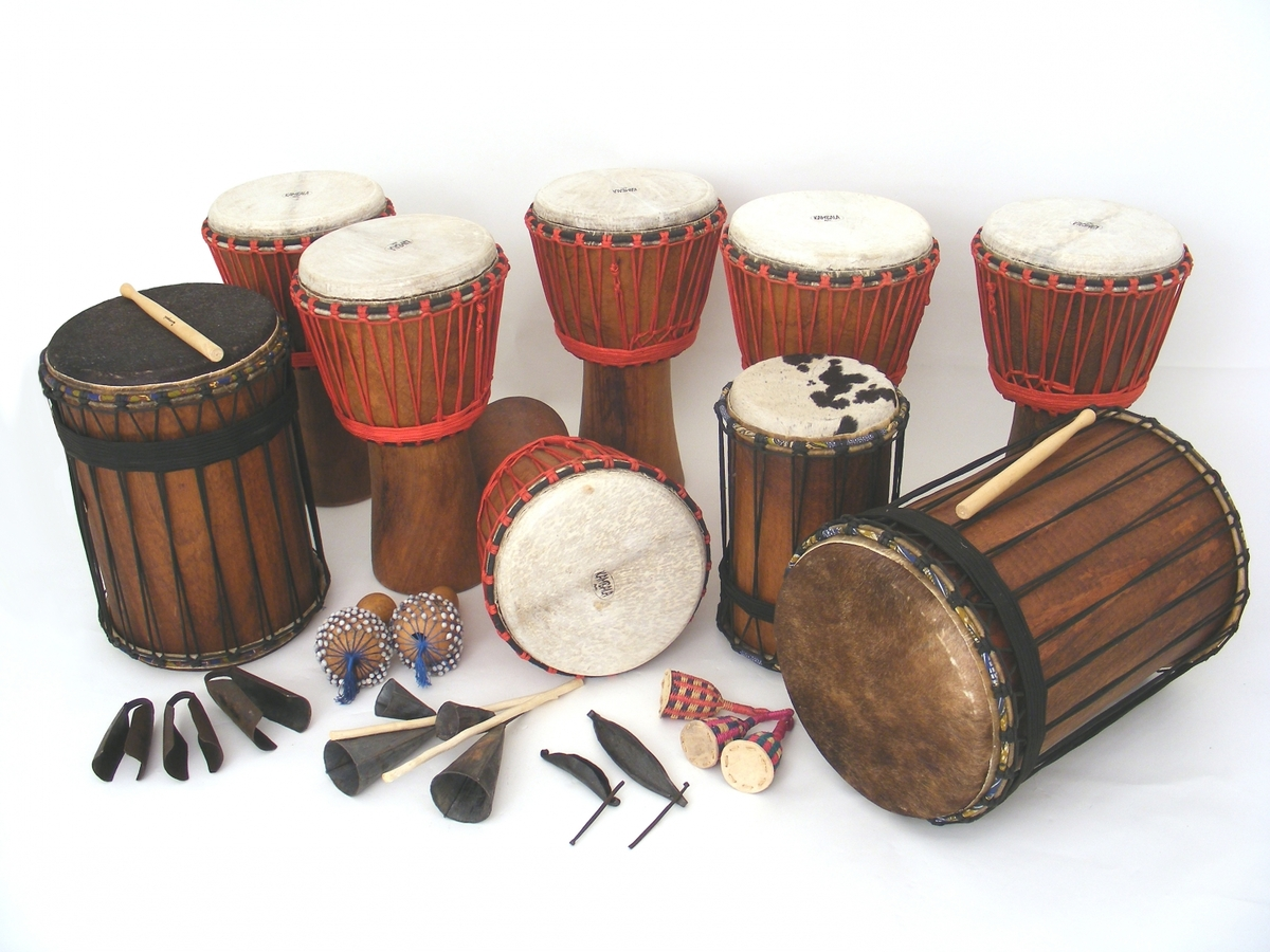 Full African Drumming Set-up - for 18 players / older kids