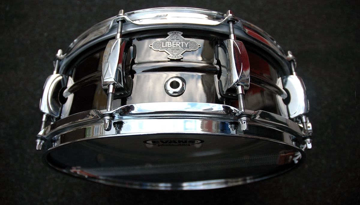 Liberty Drums 14x5 Nickel Over Brass George Way Dunnett Throw Off