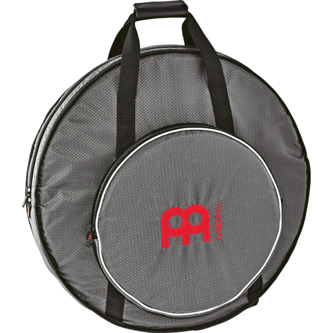 """Meinl Ripstop 22"""" Cymbal Backpack, Carbon Grey, Red Logo (MCB22RS)"""