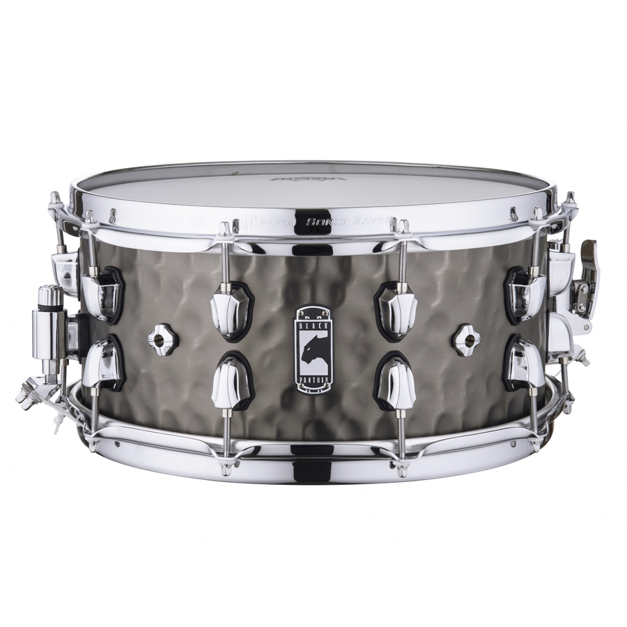 """Mapex Black Panther PERSUADER 14""""x6.5"""" Hammered Brass Snare drum BPNBR465HCN"""