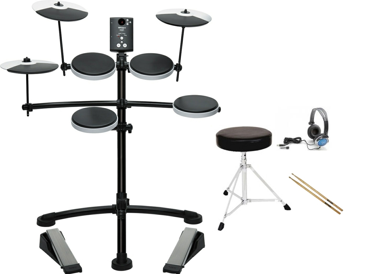 Roland TD-1K Compact V-Drums Electronic Drum Kit with starter bundle