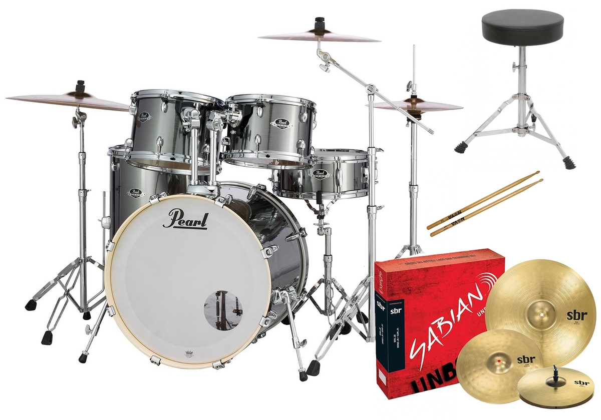Pearl EXX Export Rock Drum Kit with Sabian Cymbals +STICKS AND THRONE