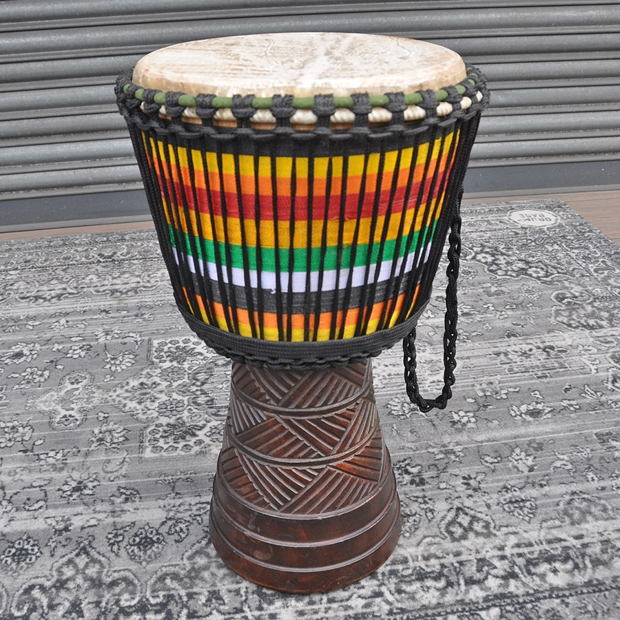 """Powerful Drums 13"""" Premium Djembe With Weaving"""