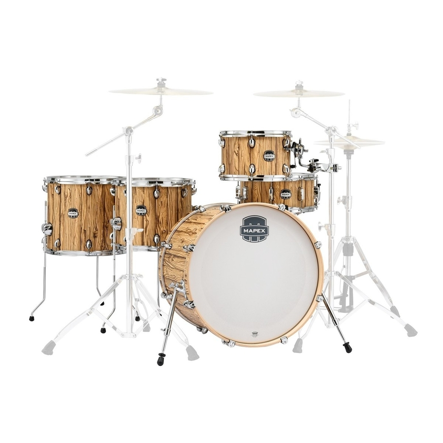 Mapex Mars Series 5pc Drum Kit in Driftwood Shell Pack Retro Fusion