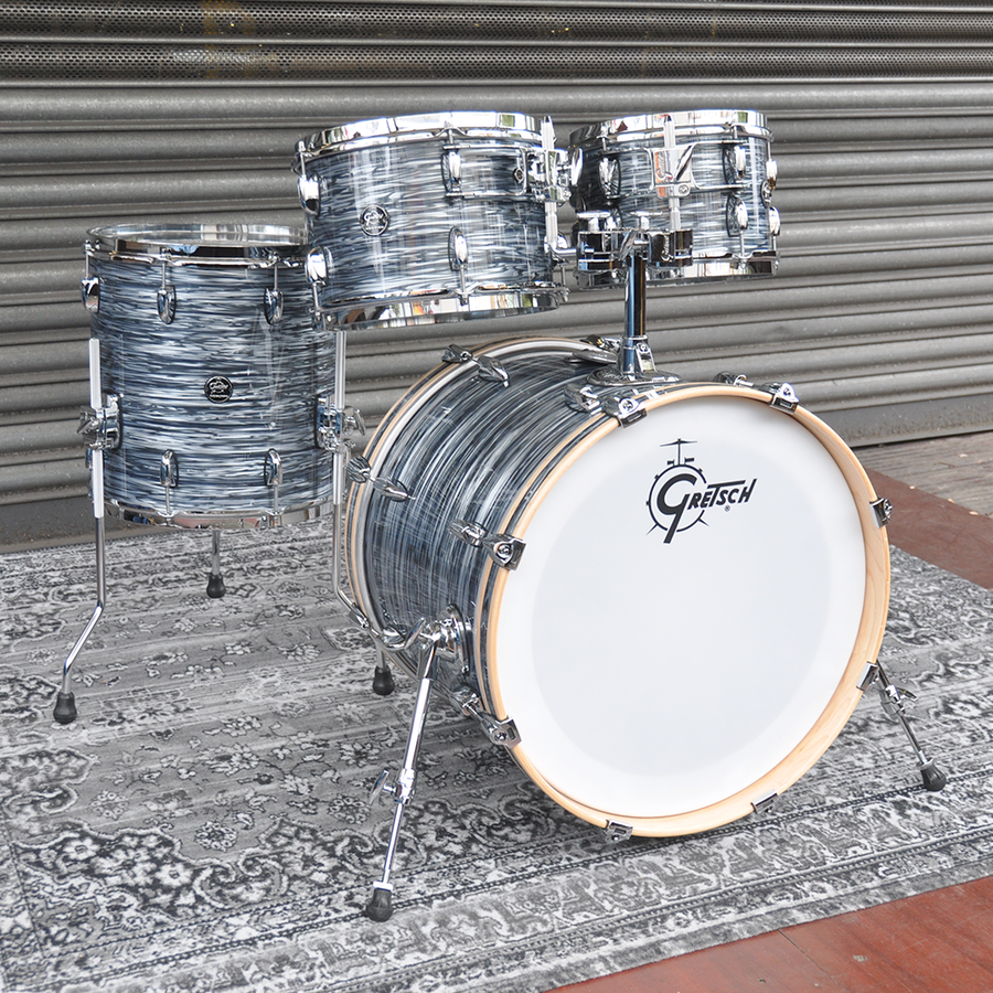 "Gretsch 10"", 12"", 14"", 20"" Renown Shell Pack in Silver Oyster Pearl finish"