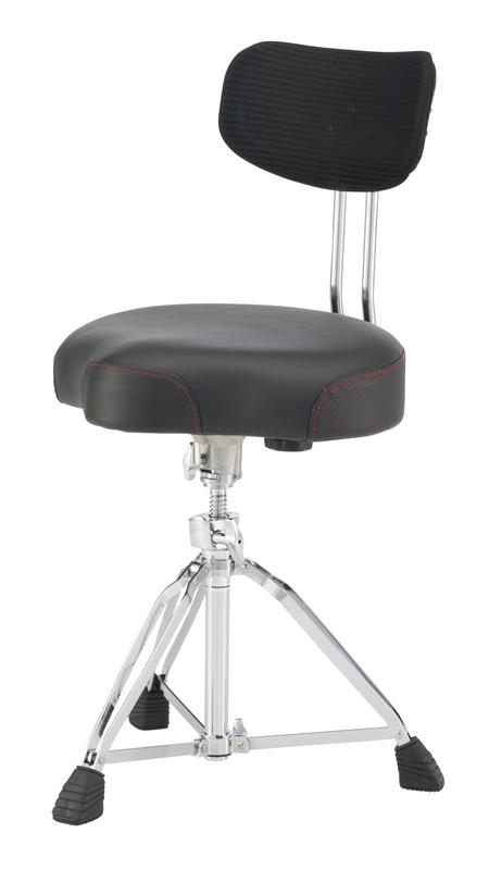 Pearl D3500BR Roadster Multi-Core Saddle Drum Throne w/Back Rest