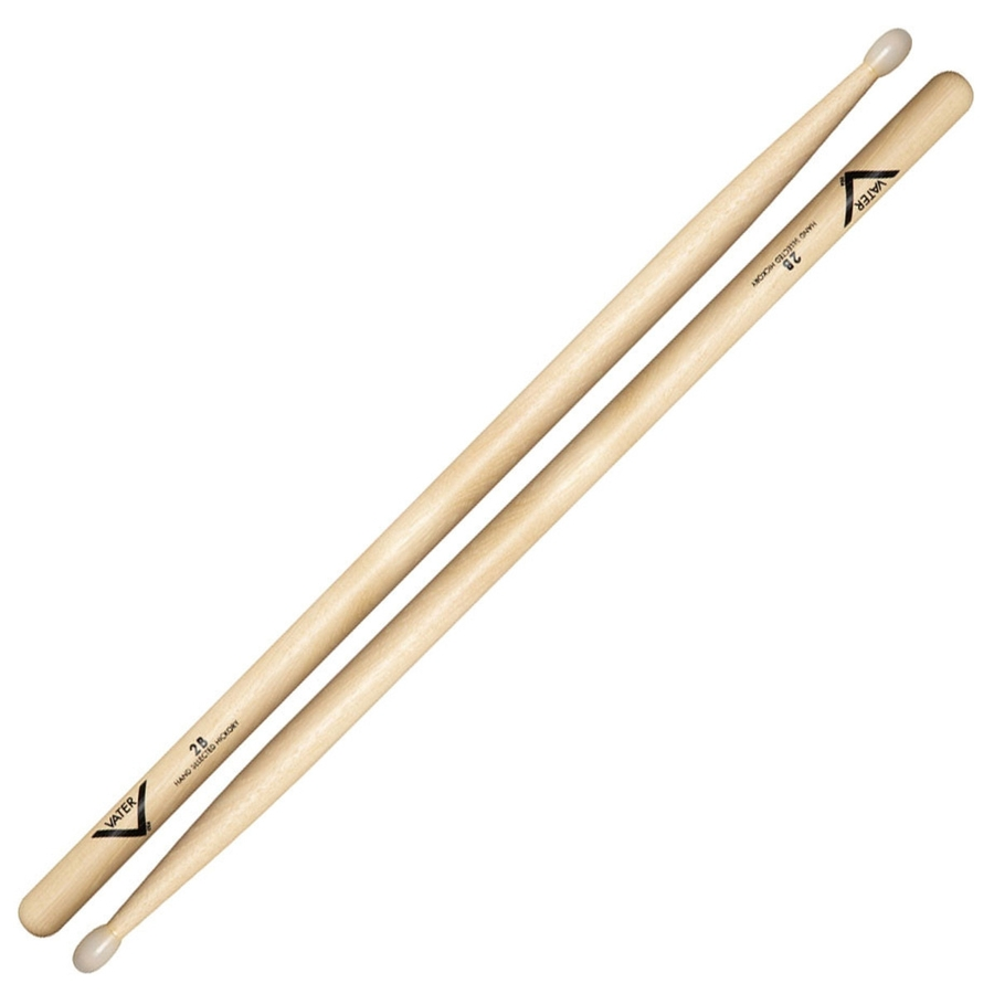 Vater VH2BN Hickory 2B Nylon Tip Drumsticks