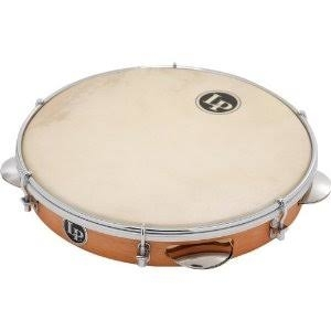 Latin Percussion LP3010N 10 Inch Wood Pandeiro - Natural Head with Bag