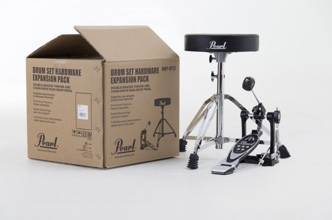 Pearl P-530 pedal & D-50 Drum Throne Pack