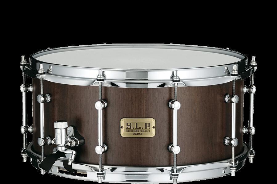 """Tama S.L.P. 14""""x 6.5"""" Walnut Snare Drum Matte Black(LGW1465-MBW)"""