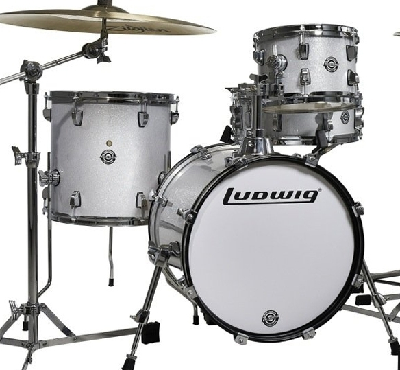 Ludwig Questlove Breakbeats Shell Pack - White Sparkle 10 13 16 bassdrum 14 Snare