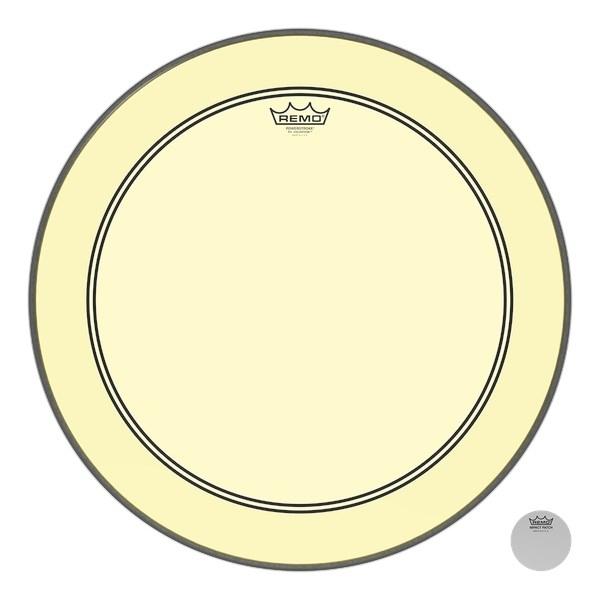 Remo Powerstroke 3 Colortone Yellow Bass Drum Heads