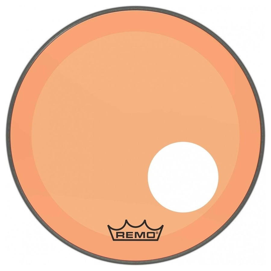 Remo P3 Resonant Colortone Orange Bass Drum Heads, Ported