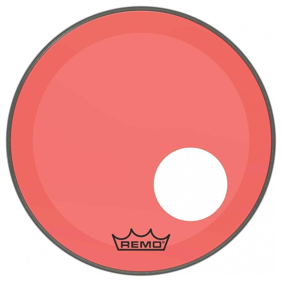 Remo P3 Resonant Colortone Red Bass Drum Heads, Ported