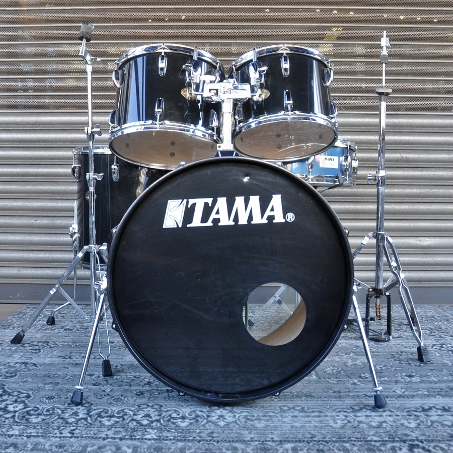 """Tama 12"""", 13"""", 16"""", 22"""" Swingstar Drum Kit with 14"""" Snare and Hardware in Black *2nd Hand*"""