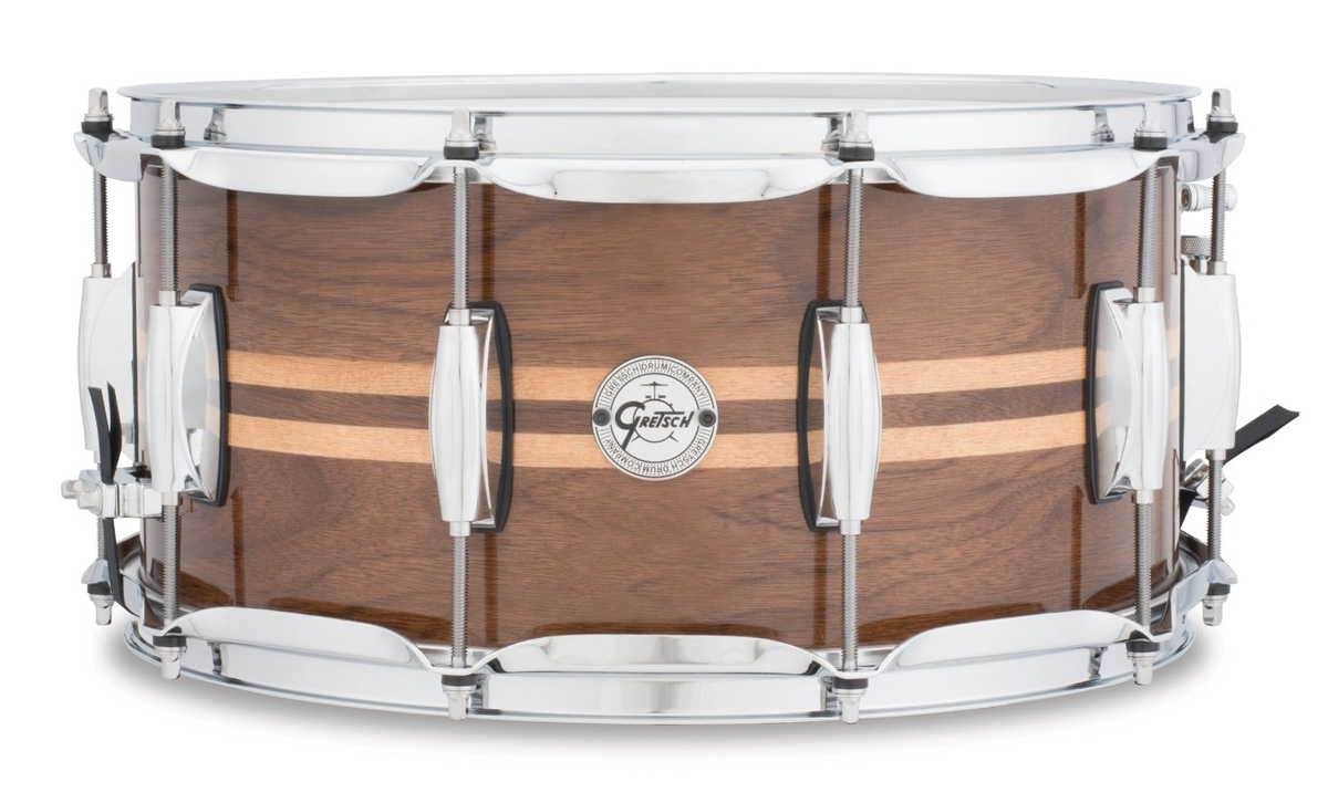 "Gretsch S1-6514W-MI Walnut with Maple Inlay 14"" x6.5"" Snare Drum"