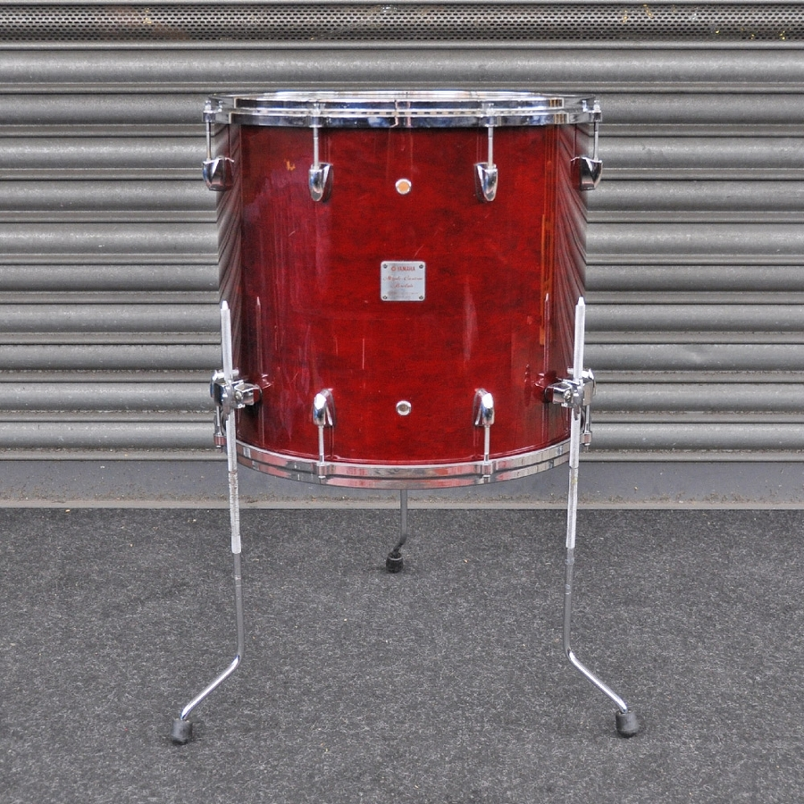 """Yamaha 18"""" x 16"""" Maple Custom Absolute Floor Tom Wine in Red Lacquer finish *2nd Hand*"""