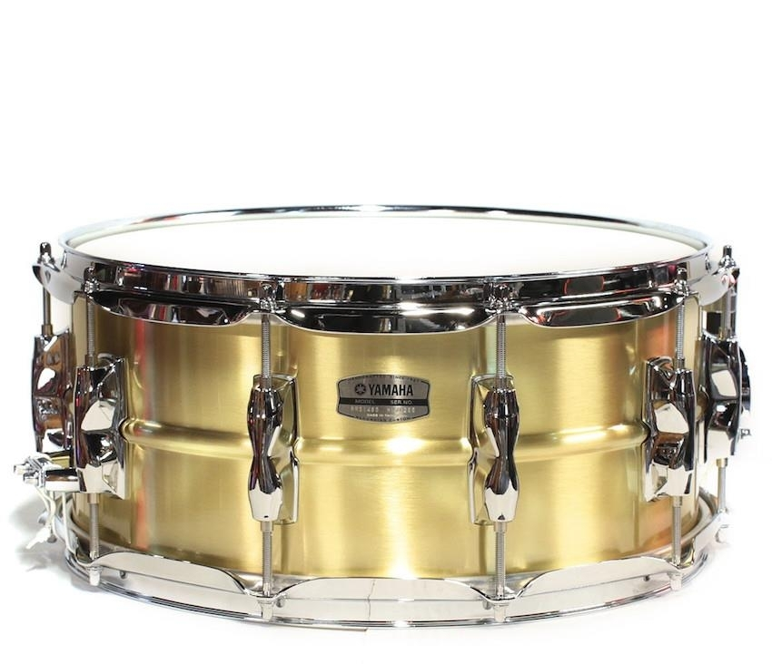 Yamaha recording custom snare brass rrs1455 for Yamaha stage custom steel snare drum 14x6 5