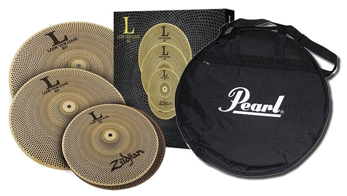 Zildjian L80 Low Volume 468 Cymbal Box Set with Pearl Cymbal Bag