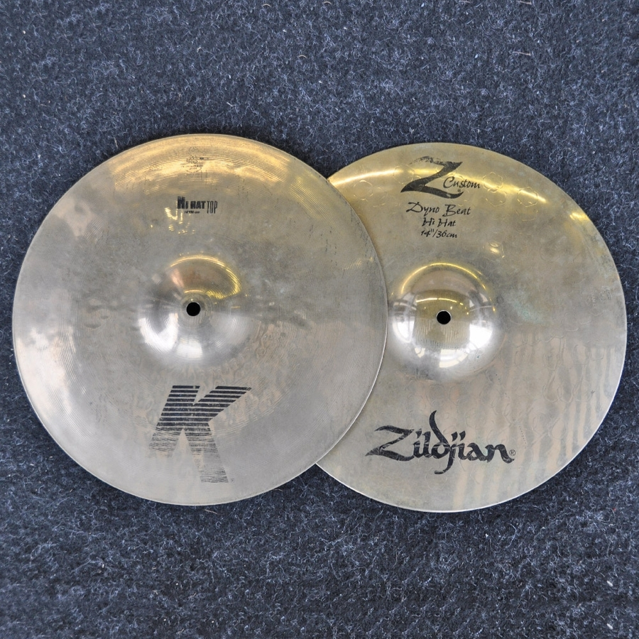 "Zildjian 14"" K/z Dyno Beat Hi Hats *2nd Hand*"