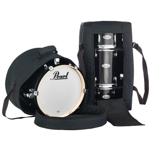 Image 5 - Pearl Midtown 4 Piece Shell Pack with Drum Cases in Black Gold Sparkle