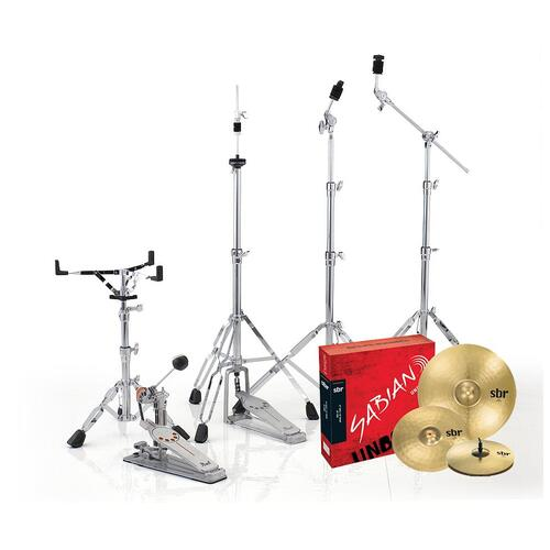 Image 5 - Pearl EXX Export Rock Drum Kit with Sabian Cymbals +STICKS AND THRONE