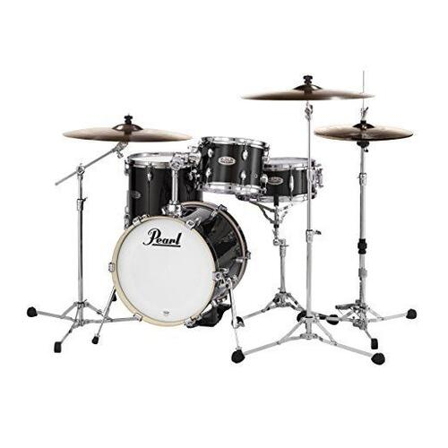 Image 1 - Pearl Midtown 4 Piece Shell Pack with Drum Cases in Black Gold Sparkle