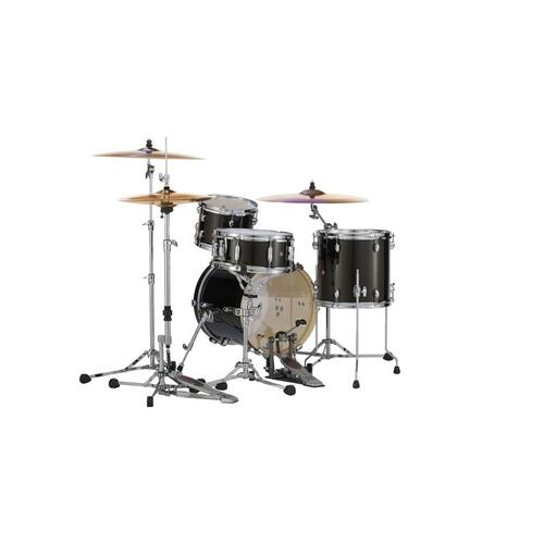 Image 4 - Pearl Midtown 4 Piece Shell Pack with Drum Cases in Black Gold Sparkle