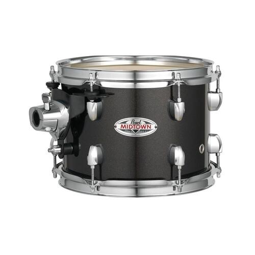 Image 3 - Pearl Midtown 4 Piece Shell Pack with Drum Cases in Black Gold Sparkle