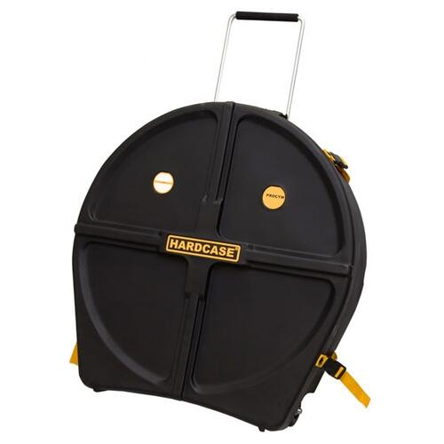 Image 2 - Hardcase 24in Kit Cymbal Case With Wheels (12 Cymbals)
