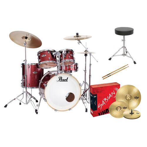Pearl EXX Export BUNDLE - Drum Kit Bundle offer with Sabian SBR Cymbal and basic Stool Upgrade