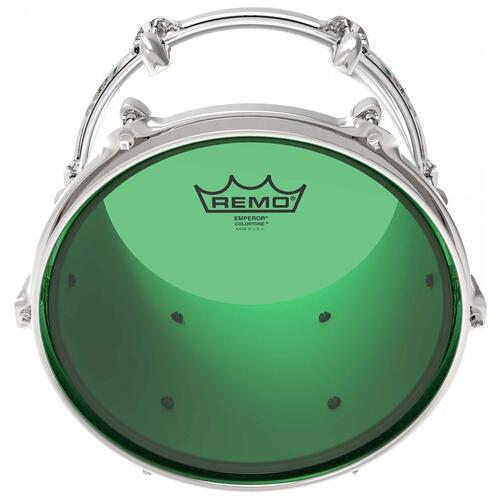 Image 2 - Remo Emperor Colortone Green Drum Heads