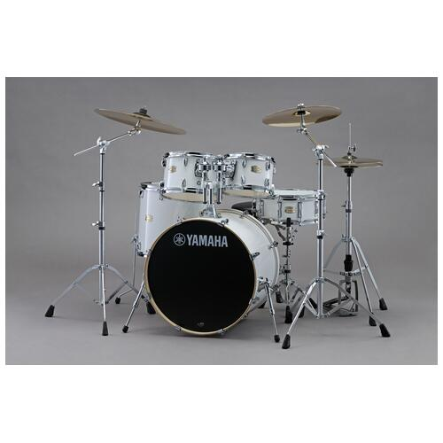 Yamaha Stage Custom Birch 20'' Fusion 5 Piece with hardware in Pure White