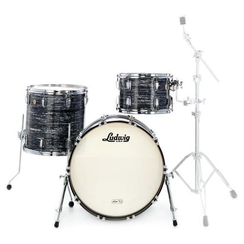 Ludwig Fab22 Classic Maple Shell Kit in Vintage Black Oyster Pearl