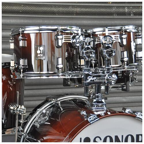 """Image 3 - Sonor 10"""", 12"""", 14"""", 20"""" AQ2 Studio Shell Pack in Brown Fade finish"""