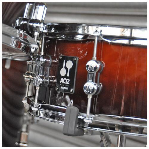 """Image 6 - Sonor 10"""", 12"""", 14"""", 20"""" AQ2 Studio Shell Pack in Brown Fade finish"""