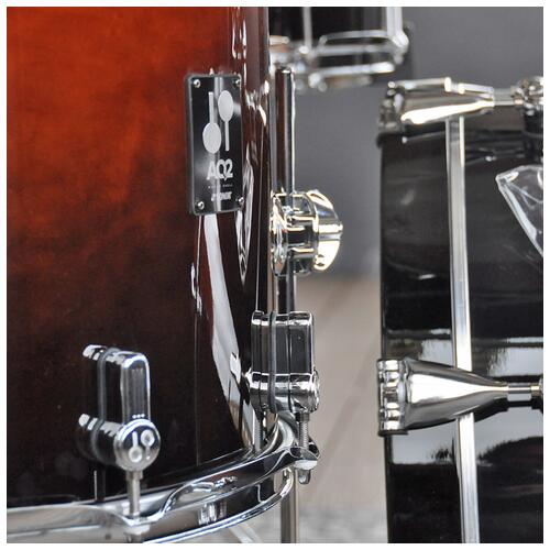 """Image 4 - Sonor 10"""", 12"""", 14"""", 20"""" AQ2 Studio Shell Pack in Brown Fade finish"""