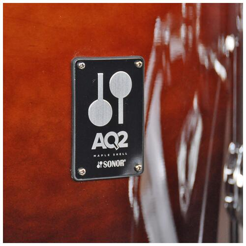 """Image 5 - Sonor 10"""", 12"""", 14"""", 20"""" AQ2 Studio Shell Pack in Brown Fade finish"""
