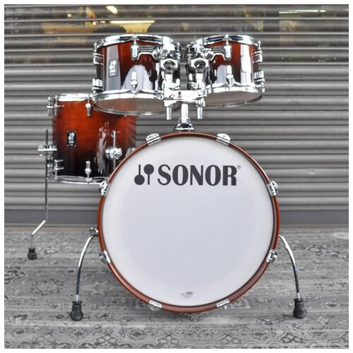 """Image 9 - Sonor 10"""", 12"""", 14"""", 20"""" AQ2 Studio Shell Pack in Brown Fade finish"""