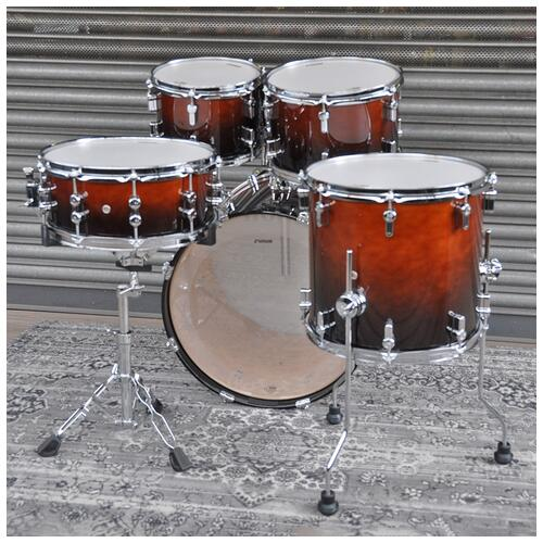 """Image 7 - Sonor 10"""", 12"""", 14"""", 20"""" AQ2 Studio Shell Pack in Brown Fade finish"""