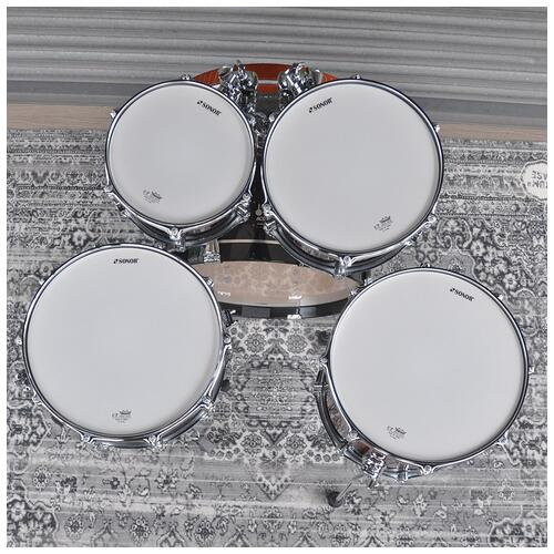 """Image 8 - Sonor 10"""", 12"""", 14"""", 20"""" AQ2 Studio Shell Pack in Brown Fade finish"""