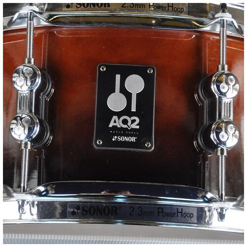 """Image 2 - Sonor 13"""" x 6"""" AQ2 Snare Drum in Brown Fade finish *Special*"""