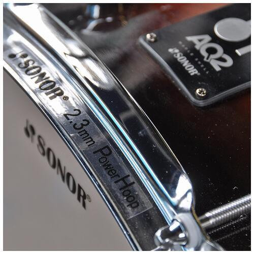 """Image 4 - Sonor 13"""" x 6"""" AQ2 Snare Drum in Brown Fade finish *Special*"""