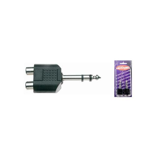 "Stagg Female RCA - 1/4"" Stereo Jack Adaptor"